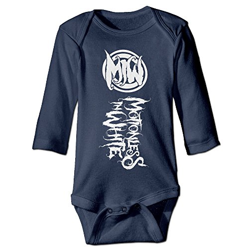 HYRONE Motionless In White Baby Bodysuit Long Sleeve JumpSuit Romper Size 12 Months Navy -