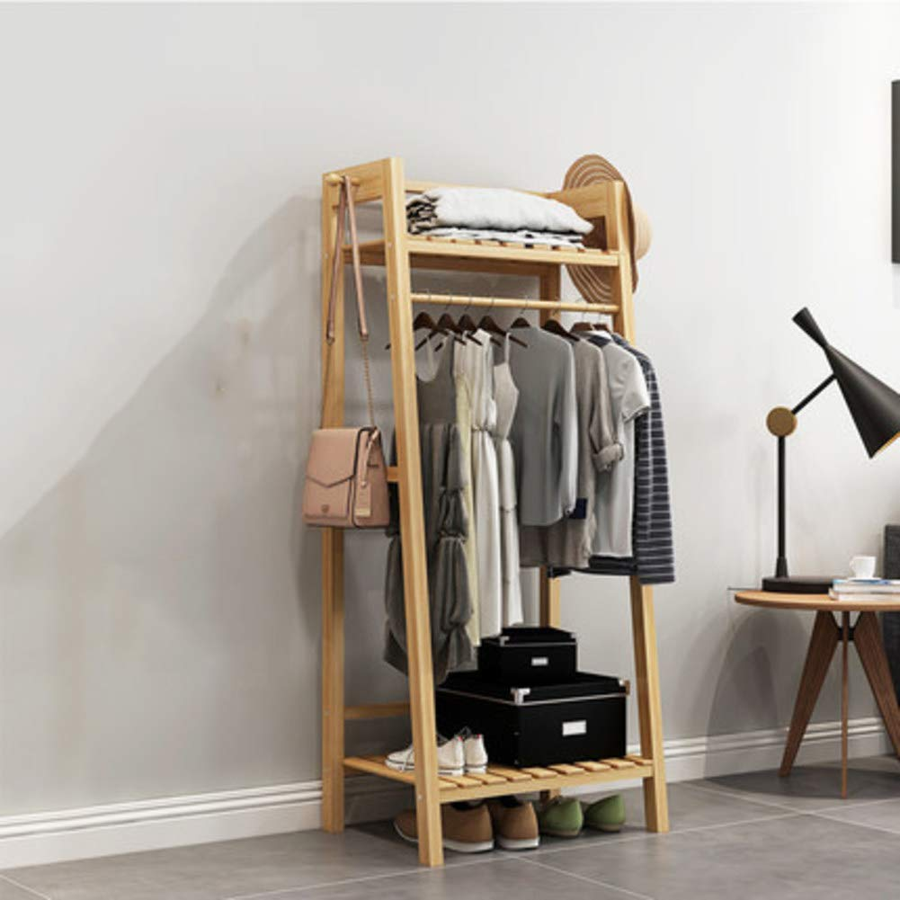 A 50x40x140cm(20x16x55inch) Hall Tree Entryway Storage Shelf,Coat Rack with shoes Rack,Hallway Organizer 1-Tier Shelves 3 in 1 Design Easy Assembly-J 100x35x165cm(39x14x65inch)