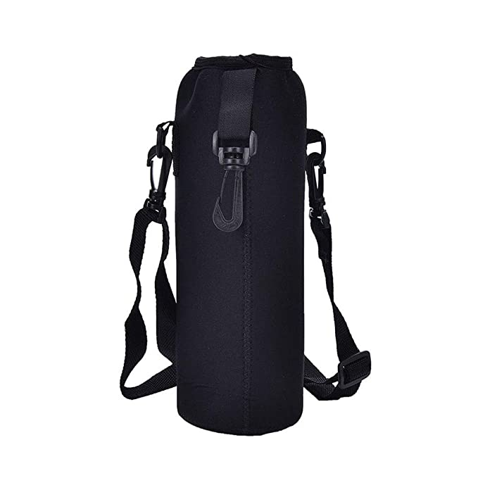 Amazon.com : Fiesta 1000ML Water Bottle Cover Bag Pouch w/Strap Neoprene Water Bottle Carrier Insulated Bag Pouch Holder Shoulder Strap Black: A, ...