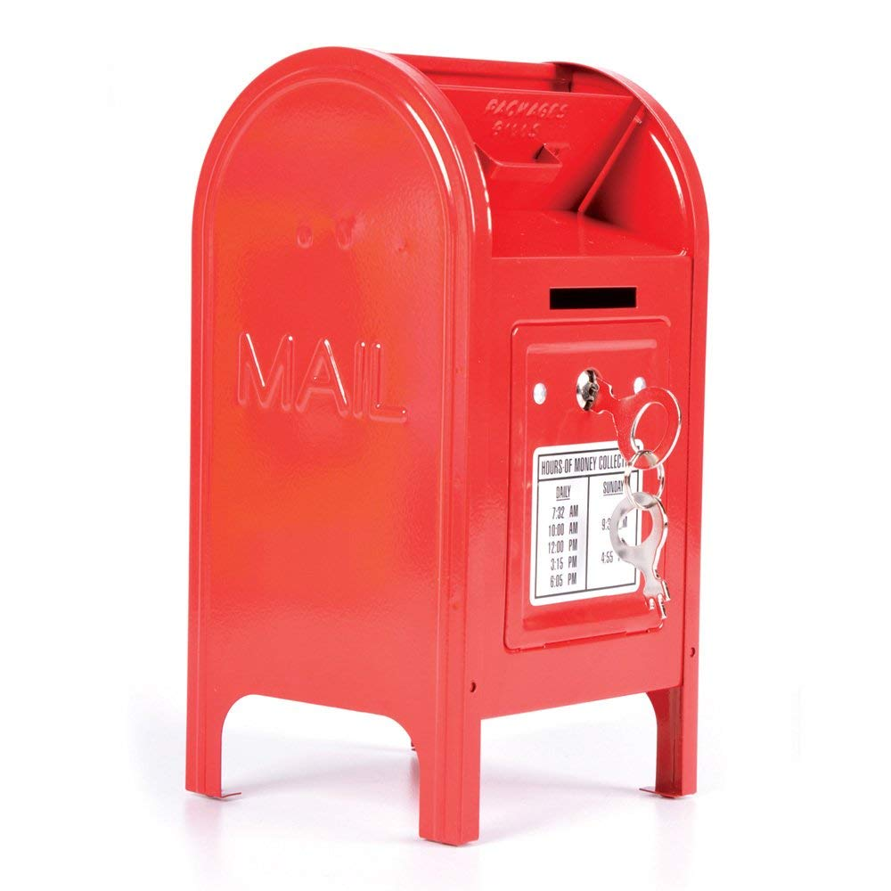 Rhode Island Novelty 7.5'' Metal Mailbox Bank - FRMAILB by Rhode Island Novelty (Image #1)