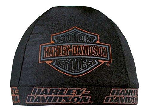 Harley-Davidson Mens Strong HD B&S Black Nylon Skull Cap, SK98630