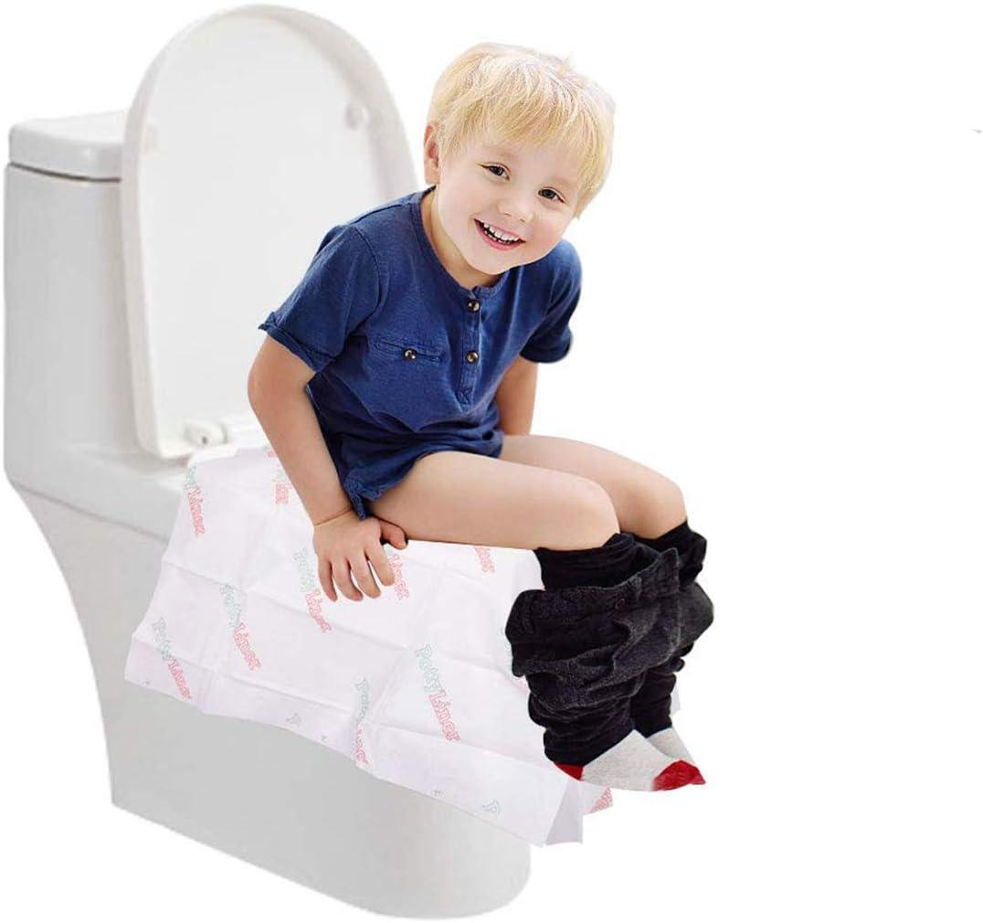 Necesidad Hogar Hospital Ba/ño Dancepandas Asiento de Inodoro Desechable 20PCS Fundas de Asiento de Inodoro Tela No Tejida Protectores Sesechables WC Antimicrobiano Impermeable WC Cover para Viaje