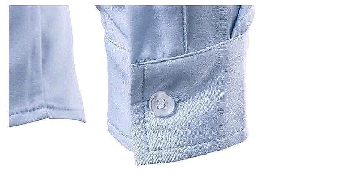 Abetteric Men Premium Business Solid-Colored Silm Fit Polo Shirt
