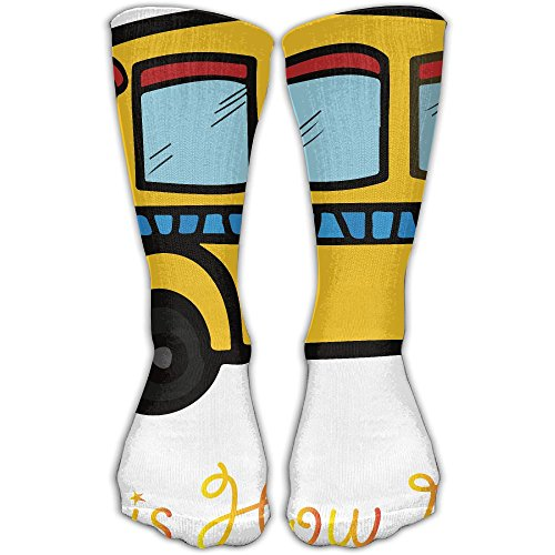 How I Roll School Bus Unisex Printing Seafarer Socks Deluxe Personality Short Sock 30CM