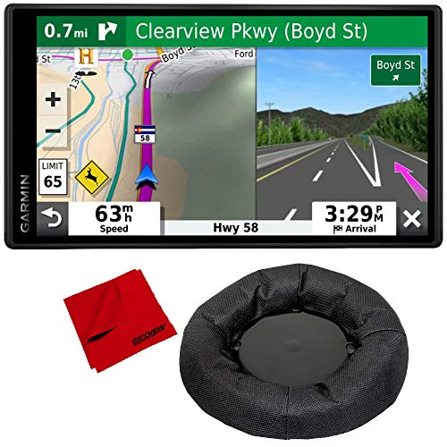Garmin DriveSmart 55 & Traffic with Included Cable Weighted GPS Dash Mount + More