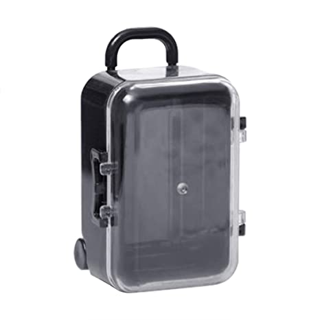 XZANTE Negro Caja de Caramelo Mini Maleta de Viaje con Ruedas Equipaje Caja de Caramelo de