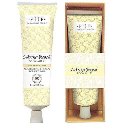 FarmHouse Fresh Citrine Beach Body Milk Hand Cream, 2.4 Ounce