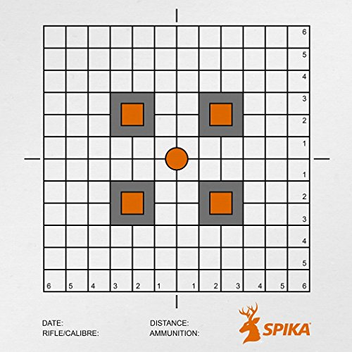 SPIKA Heavy-duty Paper Target Multi-purpose High-visibility Paper Targets for Shooting Practice 20Pack (12 inch grid)