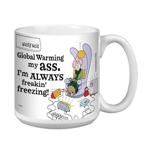 Tree-Free Greetings XM27905 Aunty Acid Artful Jumbo Mug, 20-Ounce, Global Warming