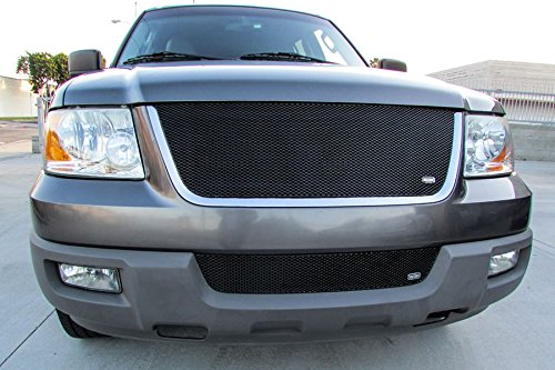 Grillcraft FOR1205B MX Series Black Upper 1pc Mesh Grill Grille Insert for Ford -