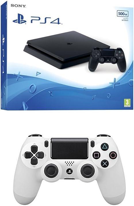 PlayStation 4 Slim (PS4) - Consola de 500 GB + DualShock 4 Glacier ...