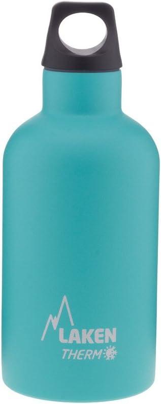 Laken Futura Botella Térmica Acero Inoxidable 18/8 y Doble Pared de Vacío, Unisex adulto, Turquesa, 350 ml