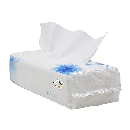 Frcolor 80 unids desechable desmontable toalla facial gruesa paño de limpieza mojado y seco maquillaje removedor