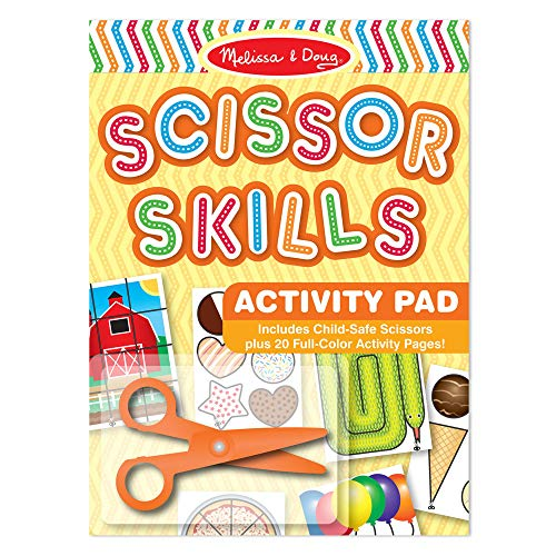 Melissa & Doug Scissor Skills Activity Book, Animal & People Play Set, Pair of Child-Safe Scissors Included, 20 Pages, 11.25 H  8.25 W  0.5 L