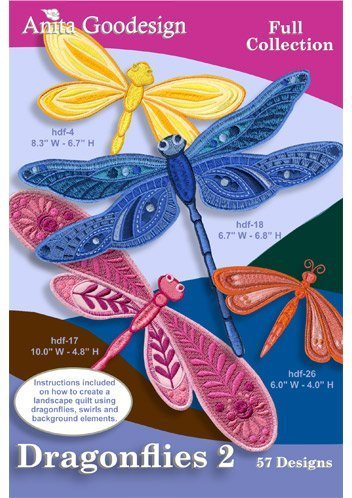 (Anita Goodesign Embroidery Designs Cd Dragonflies)