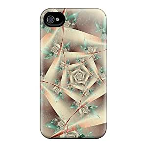 For Iphone Case, High Quality French White Rose Case For Iphone 4/4S Cover