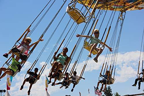 (Home Comforts Canvas Print Carnival Amusement Ferris Wheel Fair Park Vivid Imagery Stretched Canvas 10 x 14)