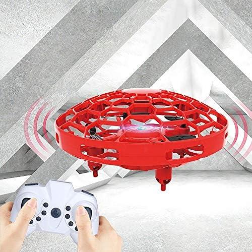 飛行機 おもちゃ 子供の手が両方とも子供と大人のためのリモートコントロール玩具付きLEDライトワンキーTakoffランドヘッドレスモードを運営しました 初心者 子供向け (Color : Red, Size : Ones)