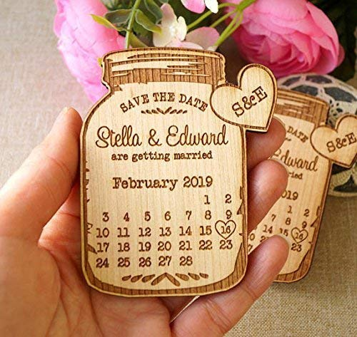 Save the date wedding announcement magnets save the dates wedding save the date wooden save the date magnets mason jar magnets 25 pc
