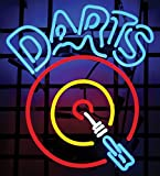 Darts Bullsey Neon Sign 17''x14''Inches Bright Neon Light for Store Beer Bar Pub Garage Room