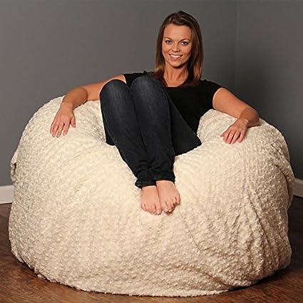 Theater Sack Ultra Soft Furry Bean Bag Chair