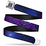 Buckle-Down Seatbelt Belt - Galaxy Blues/Purples - 1.5' Wide - 24-38 Inches in Length