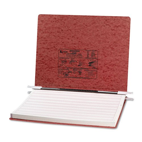 Pressboard Hanging Data Binder, 14-7/8 X 11 Unburst Sheets, Red By: ACCO