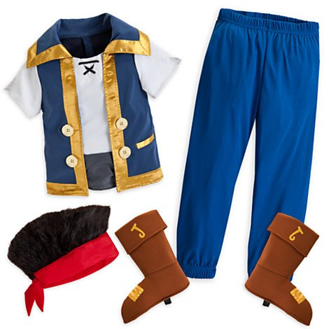 [Jake and the Never Land Pirates Costume Disney Store Size 4] (Costume Land)