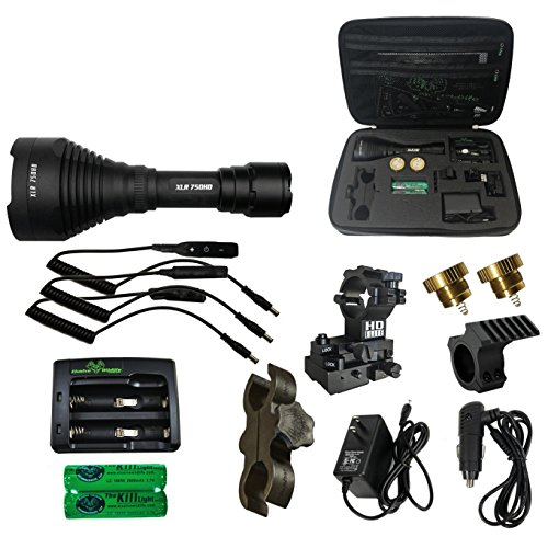 - Elusive Wildlife Kill Light XLR 750HD Zoom Focus Hunting Light Package - PRO