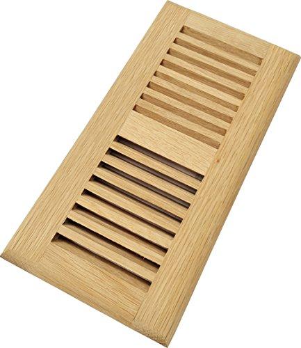 Homewell White Oak Wood Floor Register Vent, Drop In Vent, 4x10 Inch, - Floor Vent Wood
