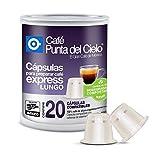 Café Punta del Cielo Cápsulas Compatibles para Preparar Café Express Lungo, 20 Cápsulas
