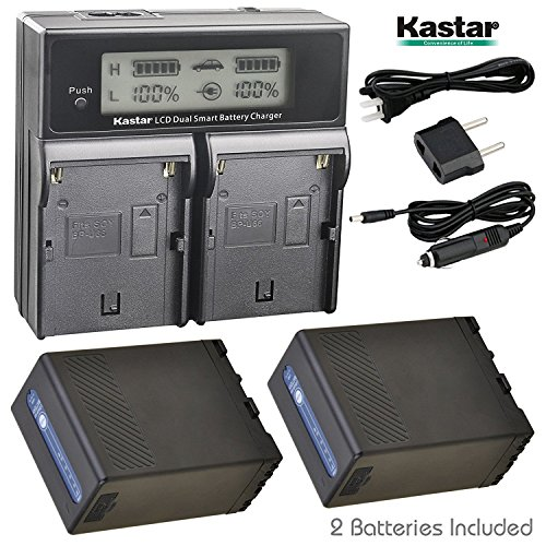 Kastar LCD Dual Fast Charger + BP-U68 Multifunctional Battery x2 for Sony BP-U60 BP-U65 BP-U90 BP-U30 PMW-200 PMW-300 PMW-EX1 PMW-EX3 PMW-EX1R PMW-F3 PXW-FS5 PXW-FS7 PMW-EX160 PMW-EX260 PMW-EX280 by Kastar