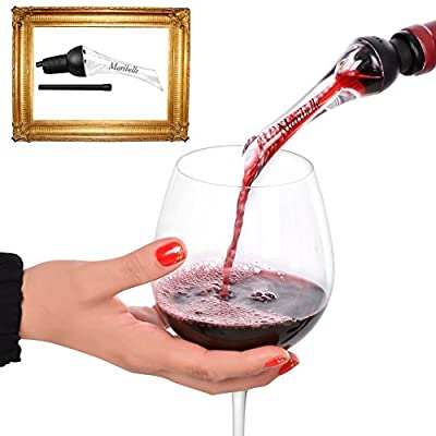 LIFESTYLE CHANGER: The Wine Aerator Decanter & Pourer That Spouts the Best Taste of Living in Your Glass . Premium Filter Aerating with Top Nozzle Funnel Spigot to Enjoy The Soiree Delight Magic