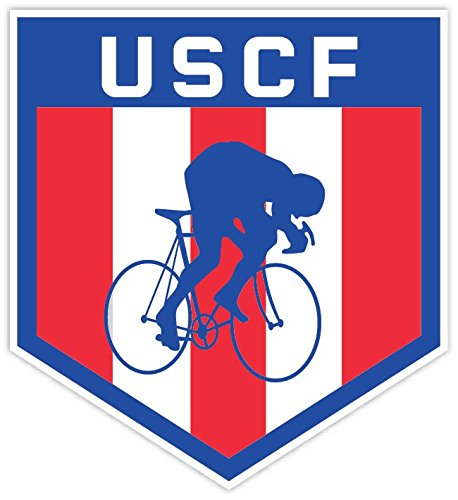 United States Cycling Federation Uscf Logo 4 X4  Vinyl Decal Sticker Bike Bicycle