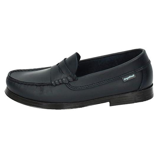 ANGELITOS 593 Mocasines DE Piel NIÑO Zapato COLEGIAL: Amazon.es: Zapatos y complementos