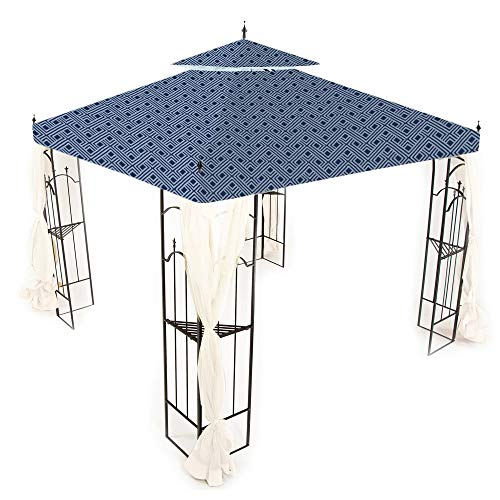 (Garden Winds Replacement Canopy for Home Depot's Arrow Gazebo - Standard 350 - Midnight)