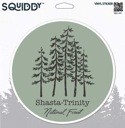 (Squiddy Shasta Trinity National Forest - Vinyl Sticker Decal for Phone, Laptop, Water Bottle (2.5
