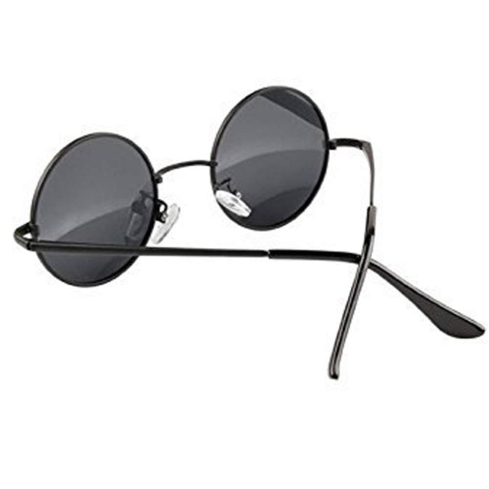 ZYCX123 Rotonda Metal Frame Occhiali da Sole Eyewear Nero