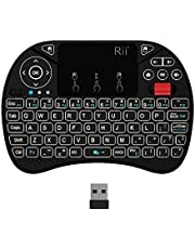 (New Backlit)Rii i8X Wireless Keyboard, Android TV Box Remote Keyboard, Touchpad Mini Keyboard, Scroll Button Keyboard,Handheld Remote,LED Backlit Rechargeable for Raspberry Pi 3/B+,KODI,Android TV Box ,Projector, PC,HTPC,Android OS/ Windows 7 8 10