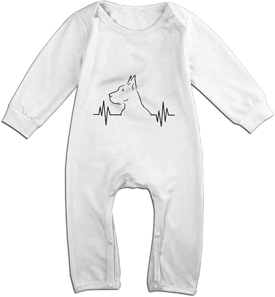 Baby Girl Bodysuits Love Great Dane Infant Long Sleeve Romper Jumpsuit