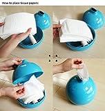 Dragonpad® Paper Pot Toilet Paper and Tissue Paper Holder, Blue