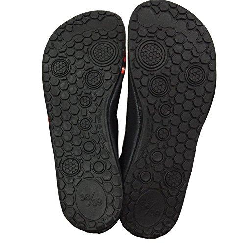 iBaste Casual sandalias para enamorados esquí zapatos de los deportes de natación en aguas pega descalzo los zapatos suaves de la piel de los zapatos de buceo Azul