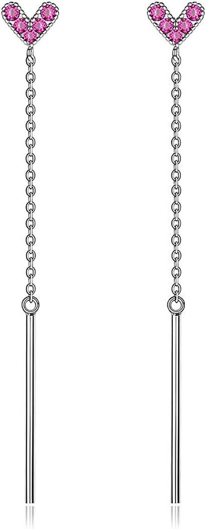 Plata de Ley 925 Chapado en Platino Pendientes Clavos Hipoalergénicos para Mujeres Joyería Moderna Simple Minimalist Accesorio Decorativo de Oreja