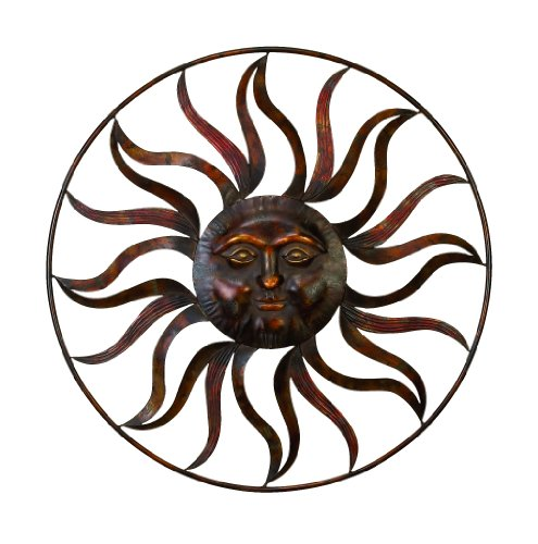 (Deco 79 97917 Sun Face Wall Decor, 36