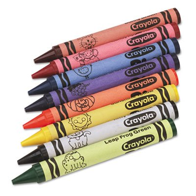 Jumbo Classpack Crayons, 25 Each of 8 Colors, 200/Set, Sold as 200 Each