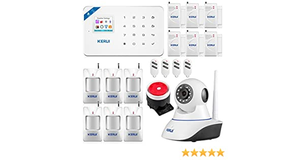 KERUI - W18 - Kit inalámbrico wifi con sistema de alarma doméstica, sistema antirrobo de seguridad y cámara IP: Amazon.es: Bricolaje y herramientas