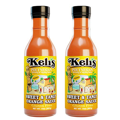 (Keli's Sweet & Tangy Orange Sauce. Vegan Polynesian Sweet & Sour, Soy Free Creamy Salad Dressing, Glazing and Dipping Sauce with a hint of Mustard. All Natural, Non GMO. (15oz) (Pack of 2))