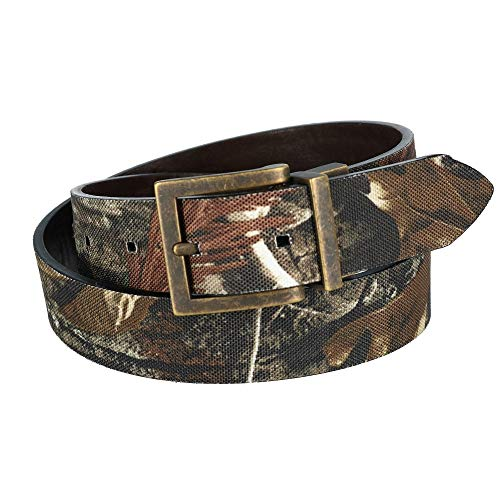 G Bar D Kids RealTree AP HD Camo Print Reversible Belt, Medium, Brown to Camo