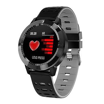 GeKLok CF58 - Pulsera Deportiva con Bluetooth Resistente al Agua, Reloj Inteligente con Monitor de frecuencia cardíaca y Contador de Pasos, ...
