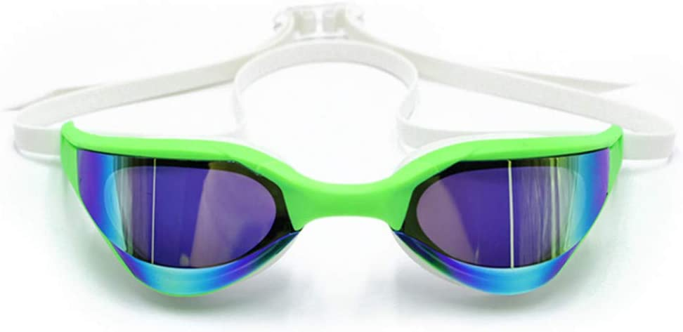 SADSA Gafas de natación Nueva profesión Racing Gafas de natación Revestimiento Competencia Gafas de natación Anti-Niebla Match Gafas de natación Impermeable Protección UV
